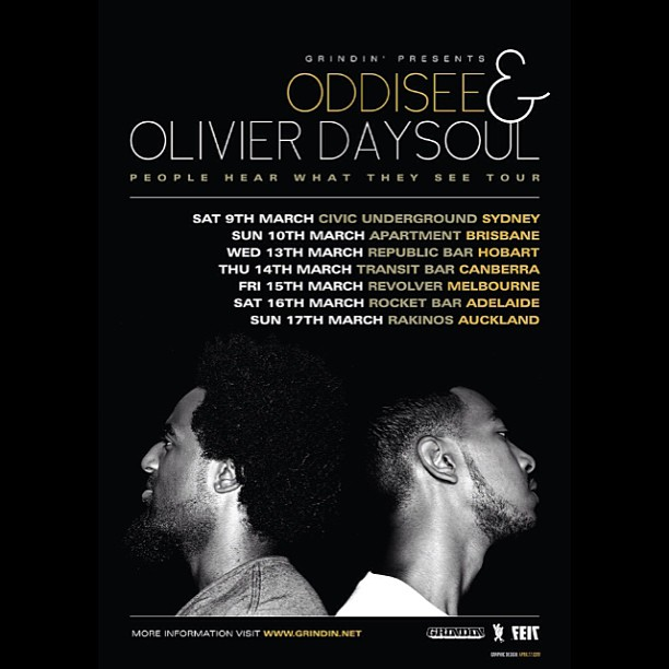 """Oddisee & Olivier Daysoul: """"People Hear What They See"""" Australia / New Zealand Tour"""