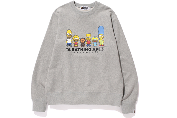 A Bathing Ape x The Simpsons_Crewneck