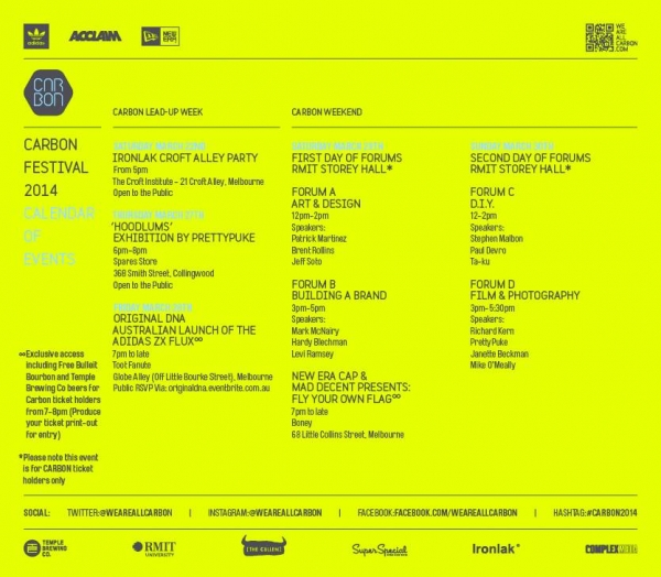 CARBON 2014 - Schedule of Events