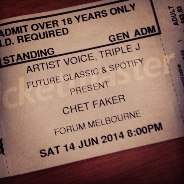 Chet Faker at Forum Melbourne