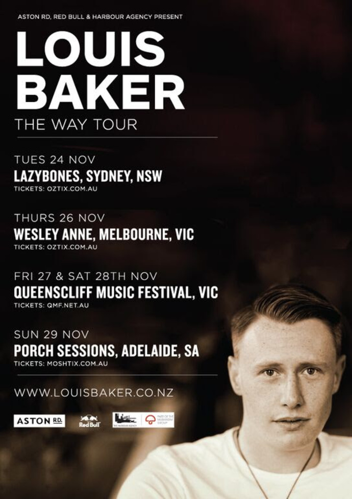 Louis Baker AUS:NZ Tour